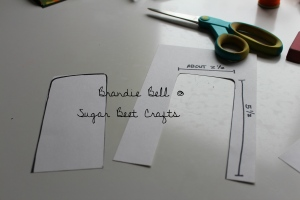 Measure and cut out handle templates