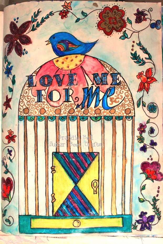 Adventures in Art Journaling - Love Me for Me