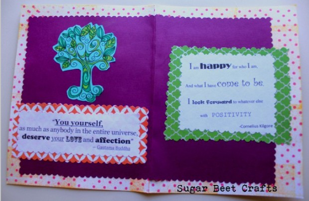 Digital Stamps and Quotes, construction paper, and stamps