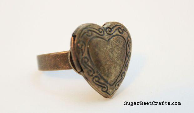 Heart Locket Ring 2