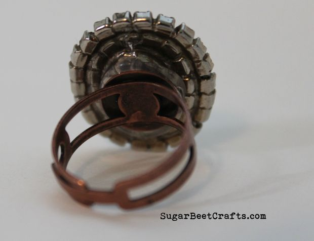 Vintage Upcycled Earing Ring 3