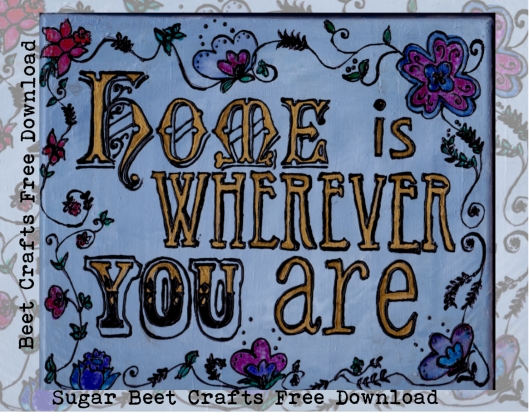Home is Whereever YOU are Title page