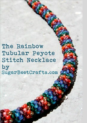 Rainbow Peyote Tubular Necklace