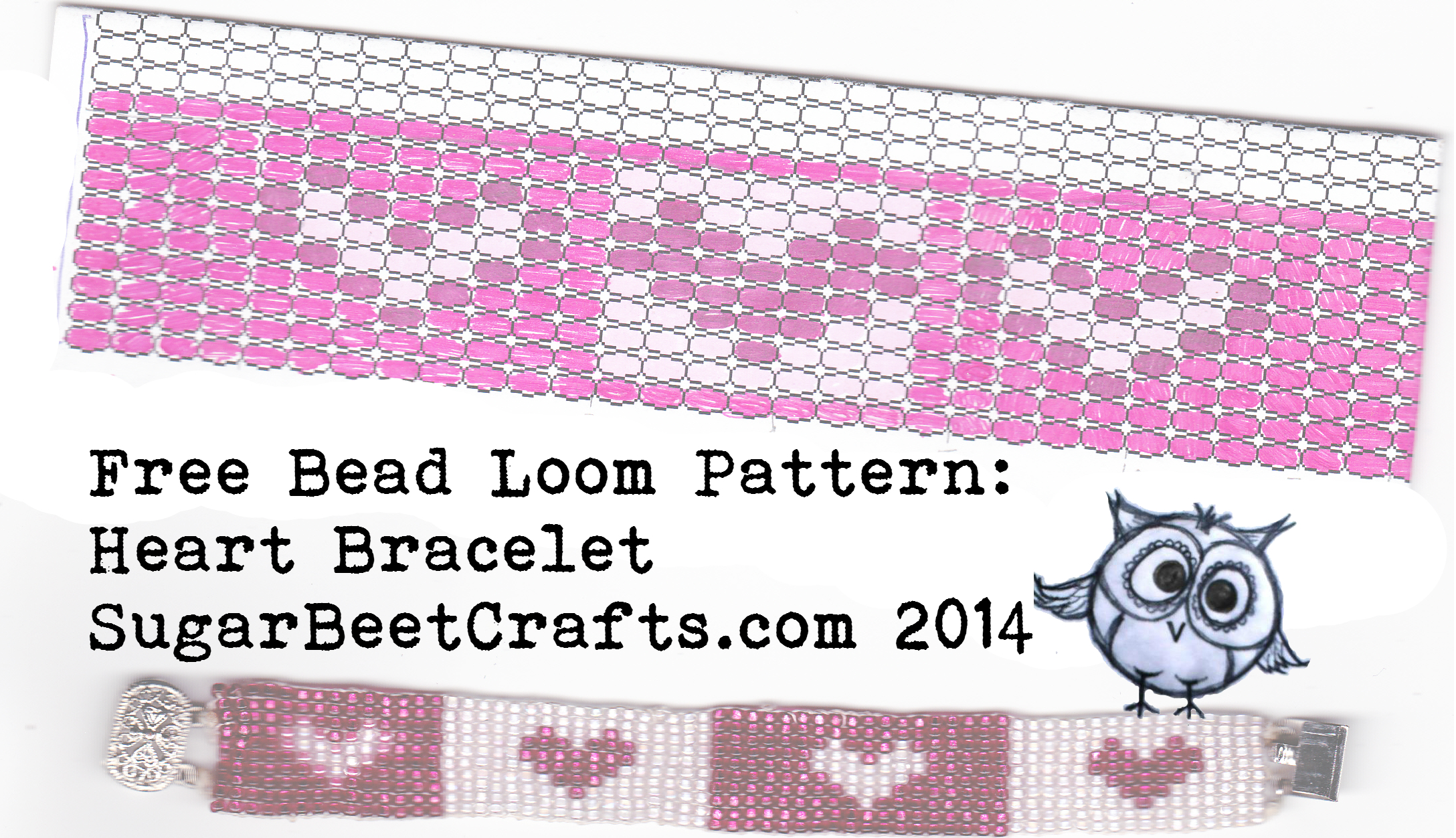 photo relating to Free Printable Bead Loom Patterns identify Cost-free Bead Loom Routine: Center Bracelet Sugar Beet Crafts
