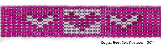picture regarding Free Printable Bead Loom Patterns named Free of charge Bead Loom Behavior: Middle Bracelet Sugar Beet Crafts