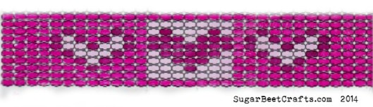 Loom Bead Heart Pattern