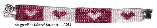 loom bead heart bracelet