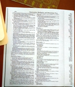 copied page of vintage dictionary
