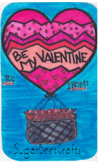 Be my Valentine balloon free download by sugarbeet crafts